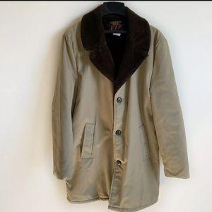 Vintage VIP Large Brown Tan Coat Insulated Jacket